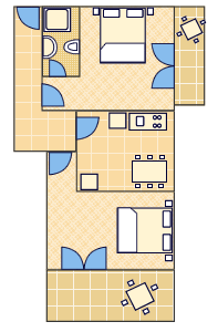 Ground-plan of the apartment - A3 - 1/2+2