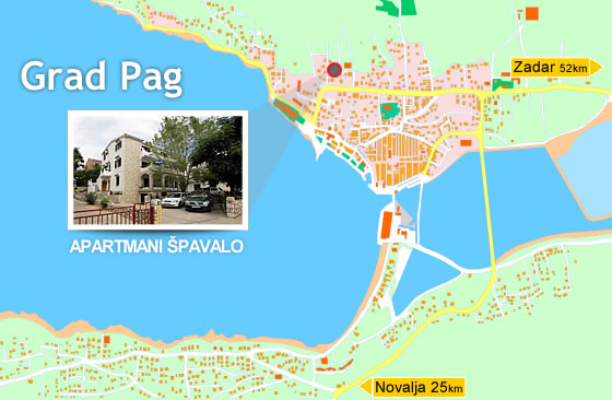 Map of City of Pag